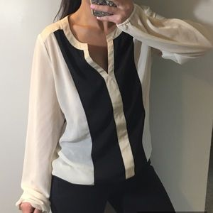 Charming Charlie long sleeve blouse